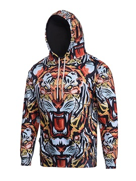 Loose Model Polyester Vibrant Color Workout 3D Painted Hoodie