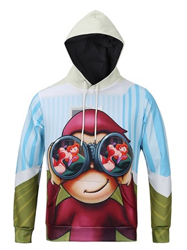 Funny Design Lightweight Polyester Casual Style 3D Painted Hoodie