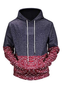 Clear Print Kangaroo Pocket Lightweight Pullover 3D Painted Hoodie