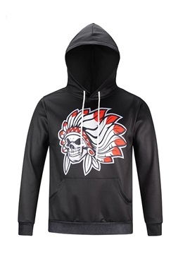 Indian Tribe Casual Style Pullover Lightweight 3D Painted Hoodie
