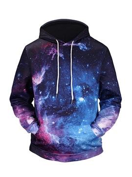 Galaxy Pattern Pullover Loose Model Unisex 3D Painted Hoodie