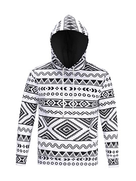 Geometric Pattern Loose Model Casual Style Pullover 3D Painted Hoodie