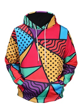 Colorful Pattern Pullover Vivid Color Lightweight 3D Painted Hoodie