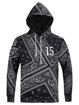 Clear Print Loose Model Pullover Fastness 3D Painted Hoodie