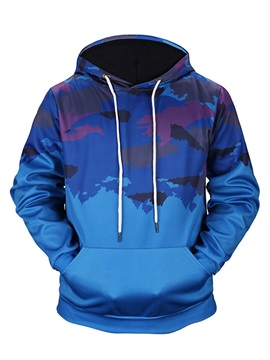 Casual Style Pullover Kangaroo Pocket Fastness 3D Painted Hoodie