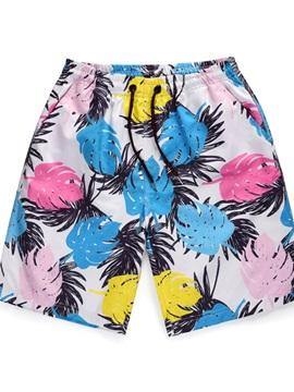 Straight Model Inelastic Knee Length Polyester 3D Beach Shorts