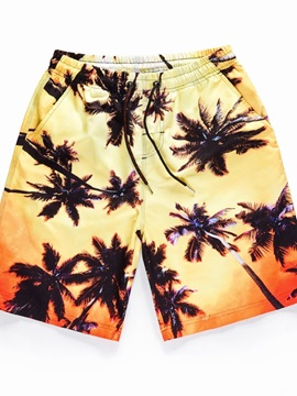 Lightweight Vibrant Color Polyester Straight Model 3D Beach Shorts