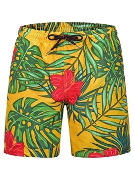 Vibrant Color Straight Model Knee Length 3D Beach Shorts
