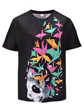 Short Sleeve Round Neck Summer Casual Style 3D T-Shirt