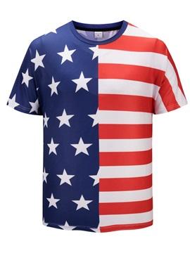 European Style Round Neck Short Sleeve Summer 3D T-Shirt