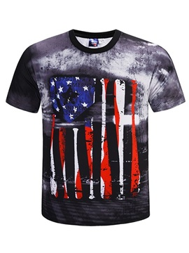 Special Round Neck Unisex Casual Short Sleeve 3D Painted T-Shirt
