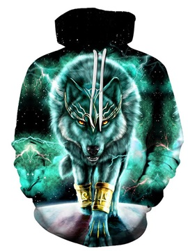 Beddinginn Color Block Print Thick Pullover Fall Men's Hoodies