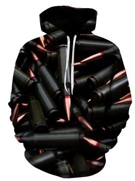 Beddinginn Color Block Print Thick Pullover Men's Hoodies