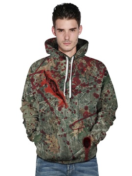 Horrible Wound 3D Painted Long Sleeve Thick Front Pocket Fashion Men's Hoodies
