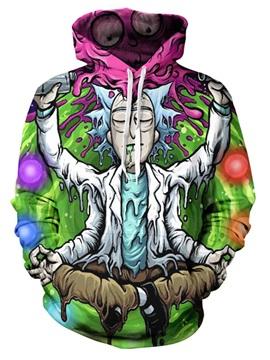 Unisex 3D Print Hoodies Funny Fleece Hooded Sweatshirt Pullover Sweater