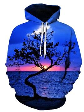 3D Print Blue Seascape Women's Hoodie Men's Hoodie Couple Outfit Creative Unisex Pullover Hoodies Fashion Long Sleeve Loose Sweatshirt Sportswear