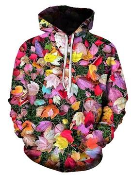 3D Print  Colorful Leaves Women's Hoodie Men's Hoodie Couple Outfit Creative Unisex Pullover Hoodies Fashion Long Sleeve Loose Sweatshirt Sportswear