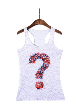Question Mark Funny Fashion Women 3D Printing Sleeveless Hot Tank Top Vest