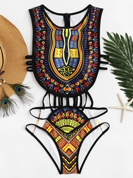 Cool Style Sexy Egypt Style One Piece 3D Bathing Suit Swimwuits