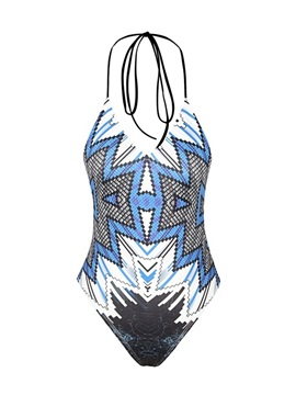 Geometry Pattern Push up Tight One Piece for Women 3D Bathing Suit Swimwuits