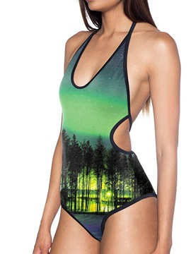 Beddinginn Print Western Plant One Piece Women's Swimwear