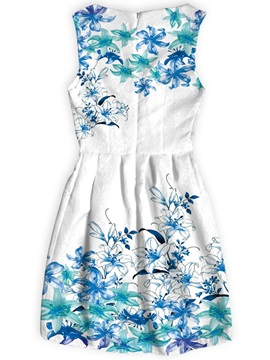 Sleeveless Style Above Knee Length Polyester Material Dress