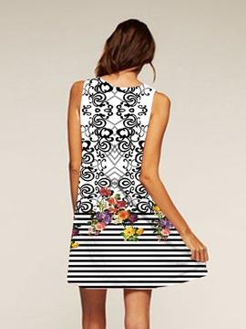 Sleeveless Style Above Knee Length Polyester Material Drsss for Women