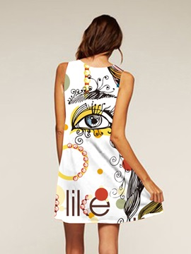 Multicolor Polyester Material Above Knee Length Dress for Women