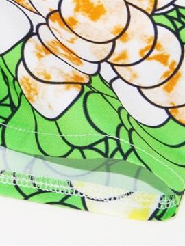 African Mid-Calf Waistband Stretchy High-Waist Digital Maxiskit