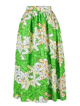 Indonesian style Fashion Leisure High-Waist Knee-Length 3D Painted Skirt