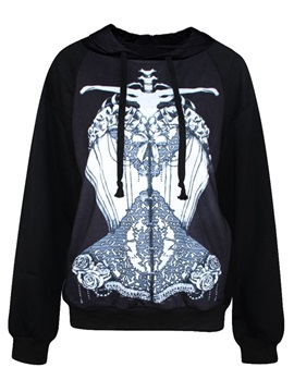Unique Long Sleeve Abstract Pattern 3D Painted Hoodie