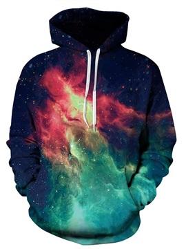 Popular Long Sleeve Galaxy Pattern 3D Painted Hoodie