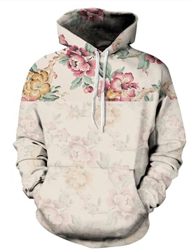 Amazing Long Sleeve Flower Pattern 3D Painted Hoodie