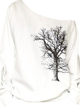 Women's 3D Print Long Sleeve Tree Pullover Fleece Hoodie