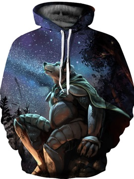 Funny Graphic Unisex Pullover Workout Kangaroo Pocket 3D Painted Hoodie