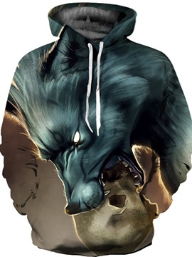 Vibrant Color Funny Design Loose Model Unisex Pullover Workout 3D Painted Hoodie