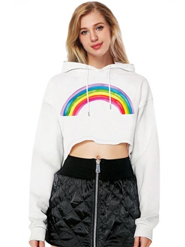 Midriff-Baring Loose Model Vivid Color Cool Design 3D Painted Hoodie