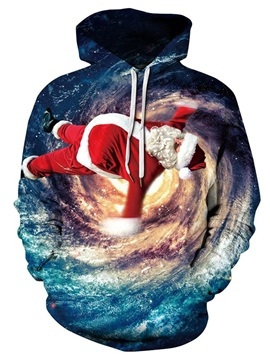 Christmas 3D Fantastic Spiral Galaxy Print Soft Warm Unisex Hoodies
