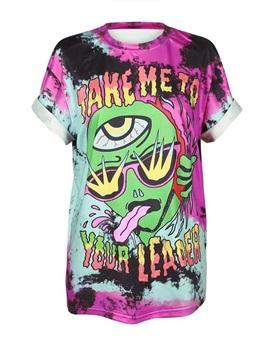 Alien Printed Gradient Colored 3D T-Shirts