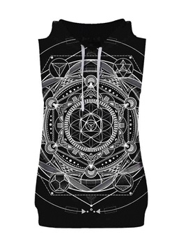Dr. Strange's Idea Sleeveless Pullover Hooded Men Fashion T-shirt