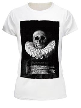 Skull Pattern Black&White Style Polyester Material 3D T-shirt
