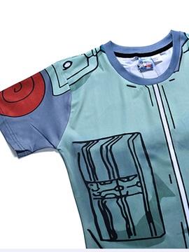 Cartoon Pattern Moderate Elasticity Polyester Material Summer Season T-shirt