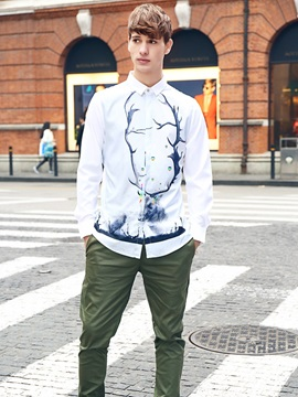 Quick-Dry Loose Model Lightweight Cool Design 3D Painted Shirt