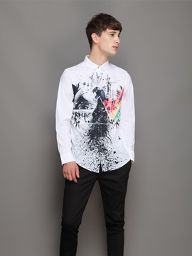 Quick-Dry Lapel Neckline Lightweight Loose Model 3D Painted Shirt