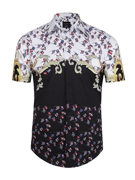 Printed Graphic Quick-Dry Lightweight Short Sleeve 3D Painted Shirt