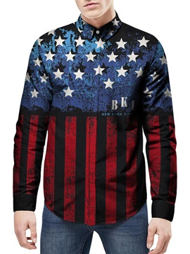 Lightweight Quick-Dry Printed Pattern Long Sleeve 3D Painted Shirt