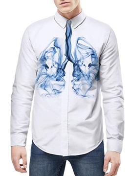 Quick-Dry Lightweight Long Sleeve Lapel Neckline 3D Painted Shirt