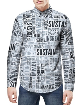 Lapel Neckline Long Sleeve Vivid Color Quick-Dry 3D Painted Shirt