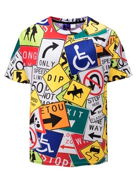 Creative Pattern Casual Style Straight Model 3D T-Shirt