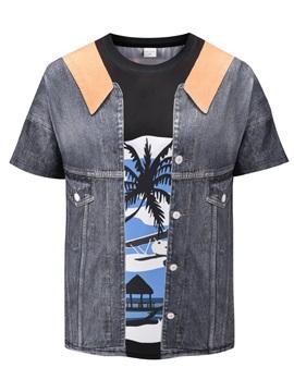 Short Sleeve Summer Round Neck European Style 3D T-Shirt